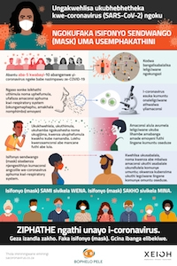 wearing a mask - Zulu infographic